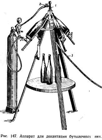 Аппарат для деконтации бутылочных вин