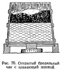откритий бродильний чан з плавующей шапкою. Малюнок №70