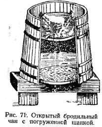 откритий бродильний чан з шапкою, що занурюється. Малюнок №71