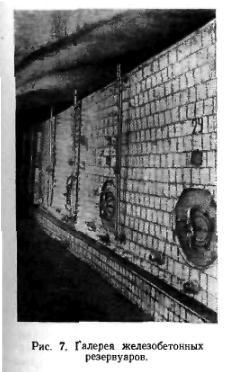 Галерея железобетонных резервуаров